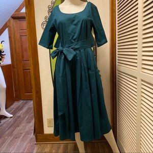 New eShatki Teal Retro Style Dress - 10